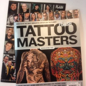 """Magazine Tattoo Flash 2015 Today, I received an issue of Tattoo Flash, """"over 50 of the most innovative artists on the planet, tattoo master"""". With #jackrudy #brianeverett #julimoon #ronearhart #corykruger #robertatkinson #teresasharpe #shige #carlostorres and many more. My pictures, my work, inside, are very old ... But it's an honor to be with all this great tattoo artists."""